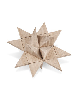 Solid oak Christmas star