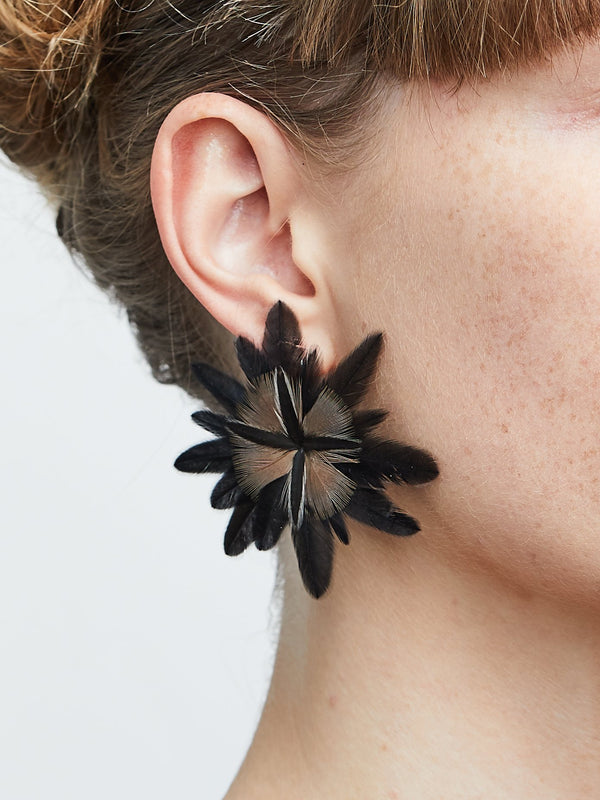 Catchy nature feathers earring