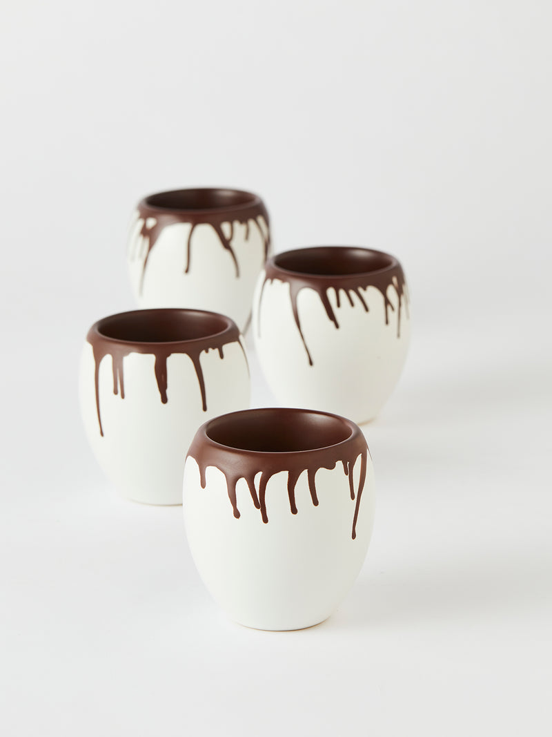 Thermo chocolate cups - set of 4