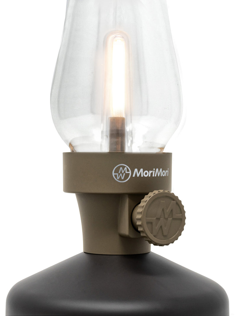 Cozy LED lantern speaker - dusty brown
