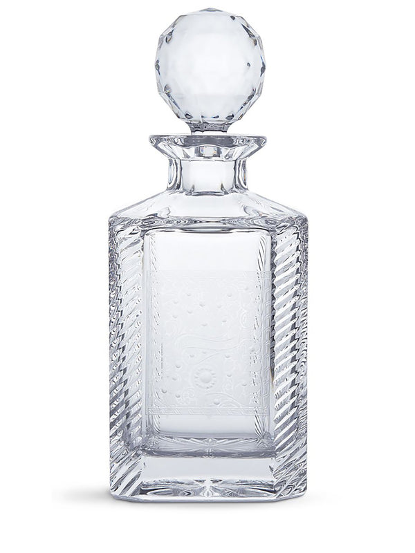 Purdey gun scroll crystal decanter