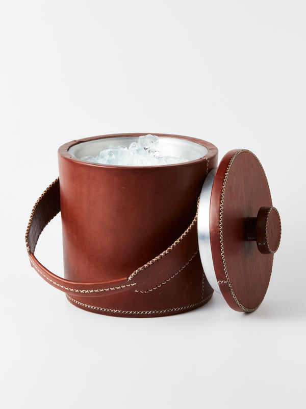 Luxury Leather Ice bucket - Small