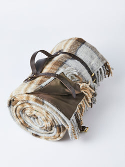 Wool Blanket with leather straps, Polo