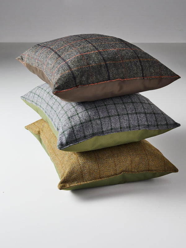 Outdoor tweed pillows