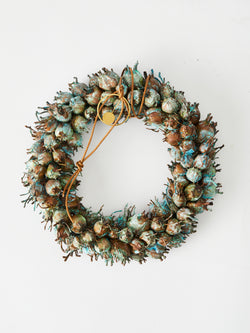 Eternity Christmas wreath in copper
