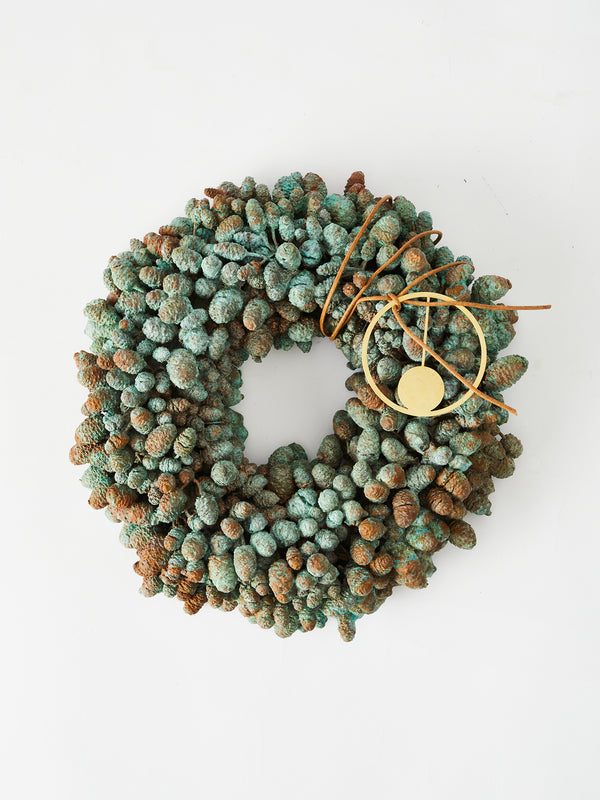 Eternity Christmas  cone wreath in copper