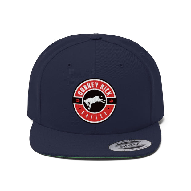 Donkey Kick Coffee Flat Bill Hat