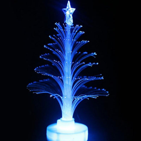 Colorful LED Fiber Optic Nightlight Christmas Tree