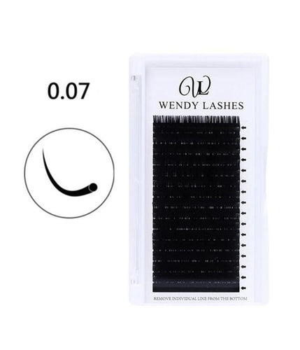 0.07MM-16ROW PREMIUM CLASSIC EYELASH EXTENSIONS - Wendylash