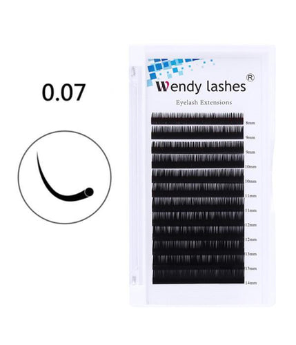 0.07MM-12ROW PREMIUM CLASSIC EYELASH EXTENSIONS - Wendylash