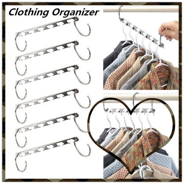 (50% Discount Today) (Buy eight get two free+free shipping)-Magic Hangers Closet Space Saving(Plastic and Metal)