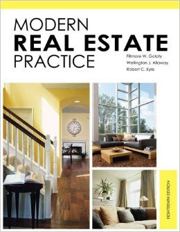Modern Real Estate Practices and Maryland Real Estate Practice and Law.