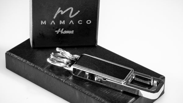 Mamaco Home Elegant Keychain with premium soft leather - MAMACO RED