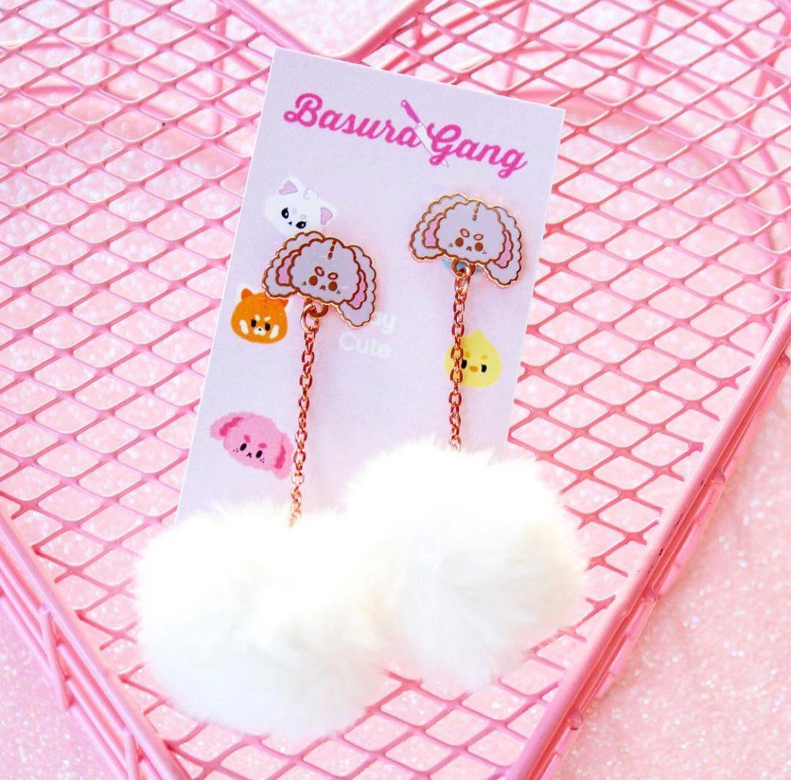 Bunny Pom Pom Earrings