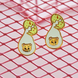 Egg Bear Earrings