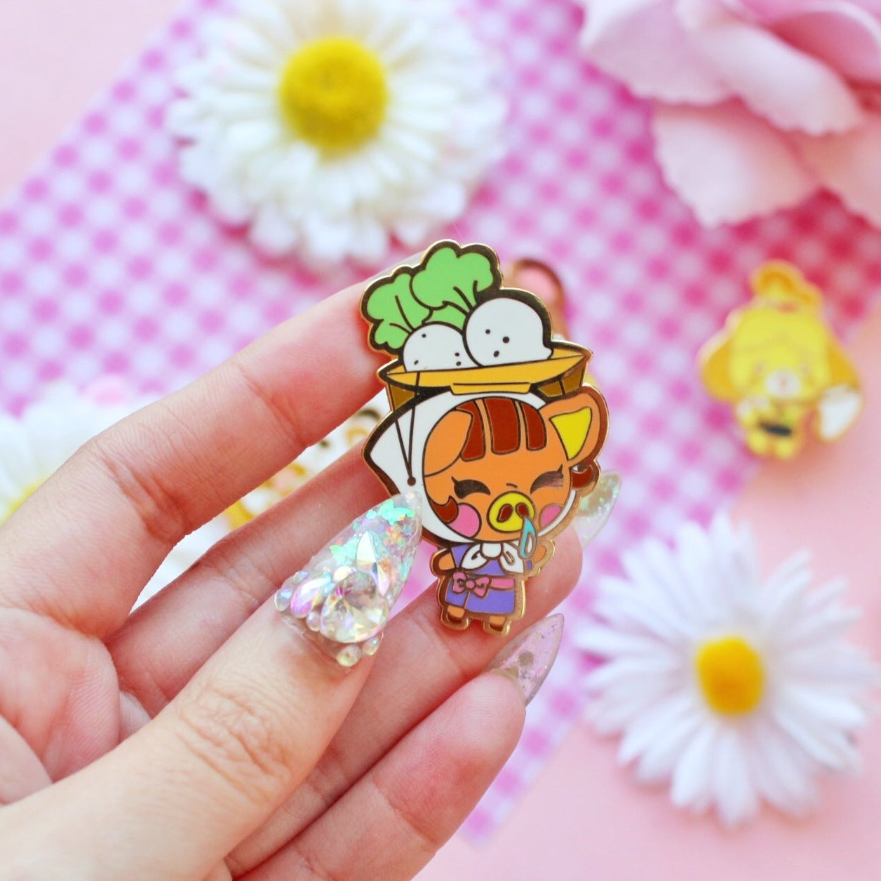 Turnip bae  enamel Pin