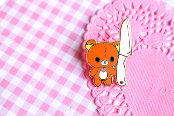 Knife Bear enamel  Pin PREORDER