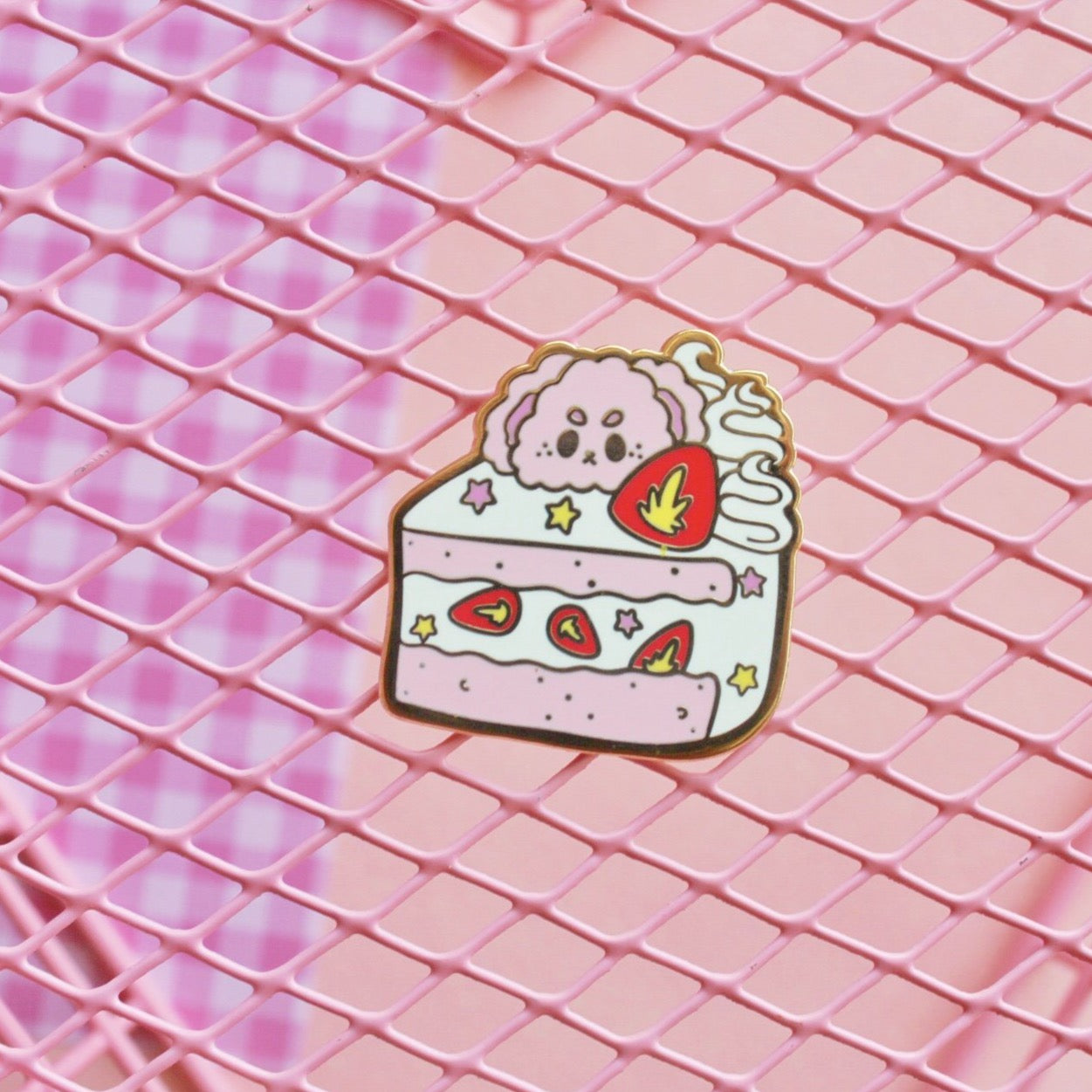 Kawaii Cake Enamel Pin