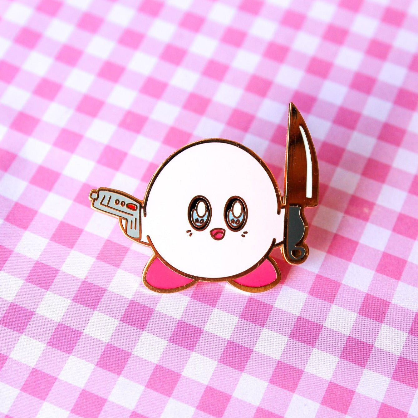 Tough Fluff enamel  Pin