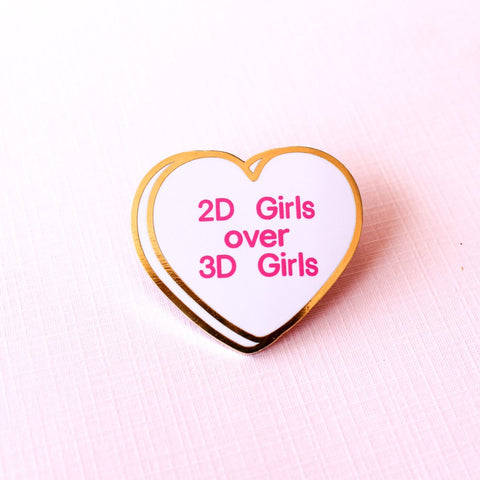 2d Girls enamel  Pin
