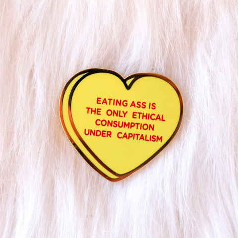 Capitalism Candy Hearts Pin
