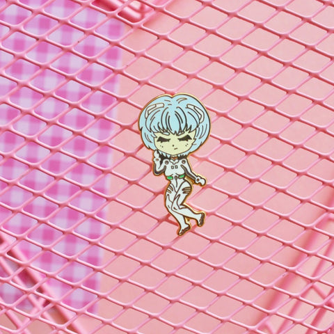 Robot anime girl enamel Pin
