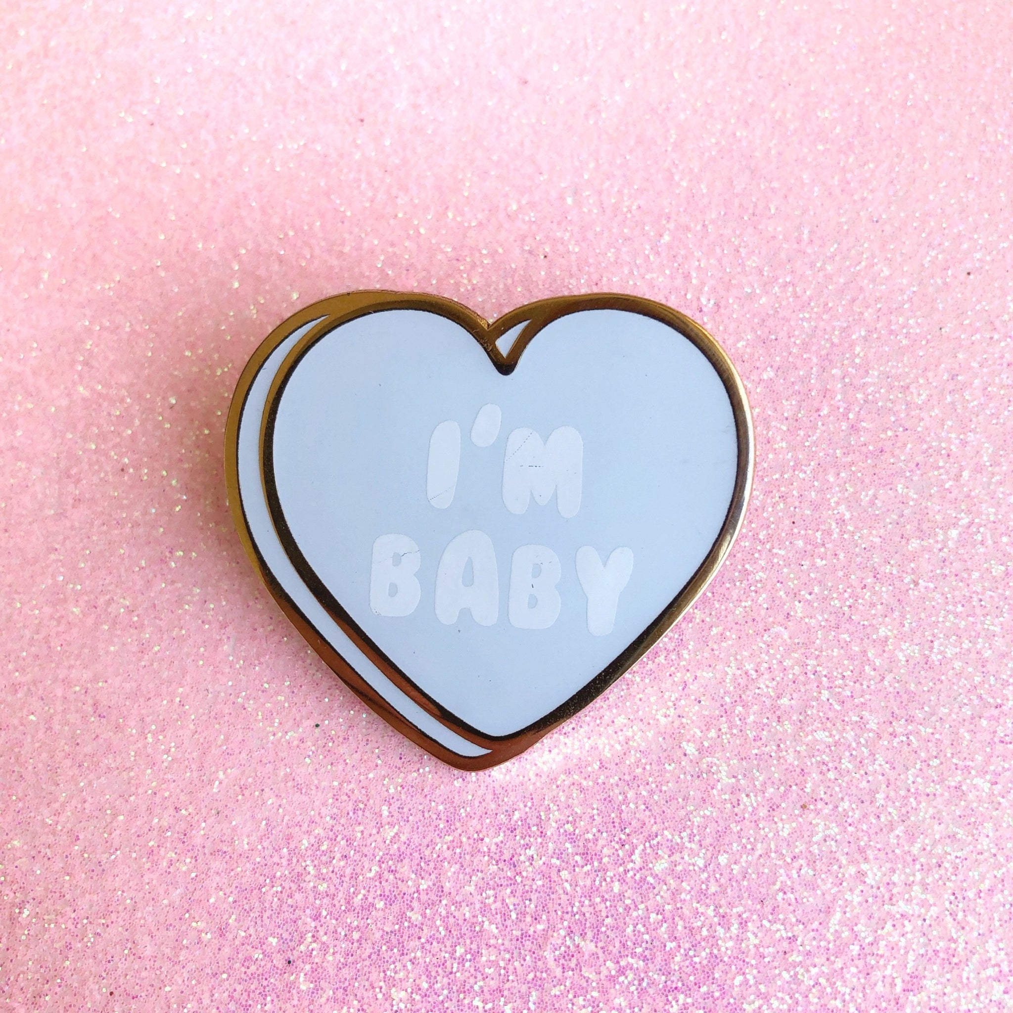 I'm Baby Sweat hearts enamel Pin