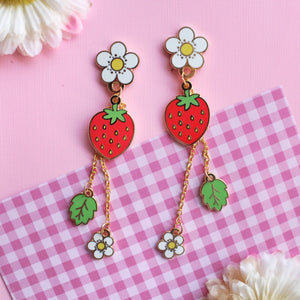 Strawberry plant Earrings