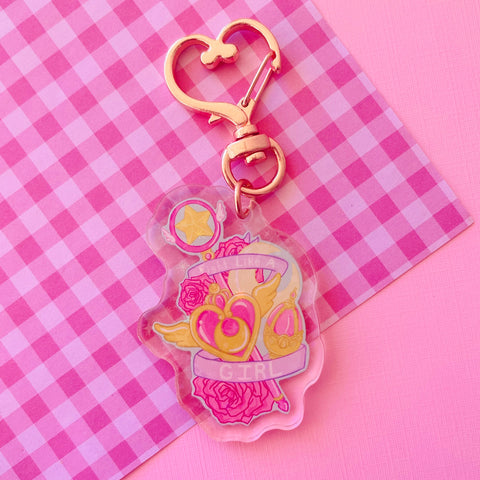 Fight Like a Girl Acrylic charm