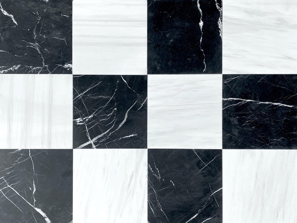 Black Silk - Glacier White - Altura Stone and Tile