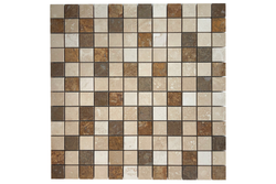 Travertine Mix 1x1 Honed - Altura Stone and Tile