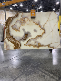 White Onyx #H8732 Polished - Altura Stone and Tile
