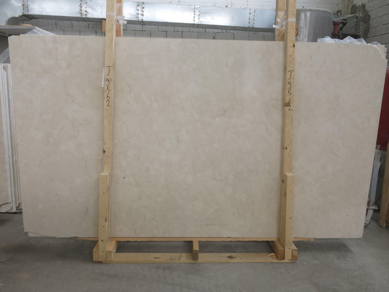 Aero Cream Limestone Marble Slab. Altura Stone and Tile. White, Beige, Ivory, Taupe in color.