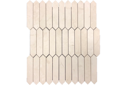 Aero Cream Limestone Marble Mosaic. Altura Stone and Tile. White, Beige, Ivory, Taupe in color.