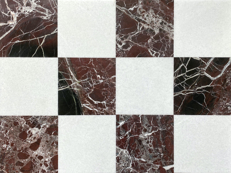Snow White - Rosso Levanto - Altura Stone and Tile