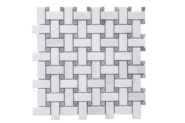 Glacier White 1x2 Basketweave Polished