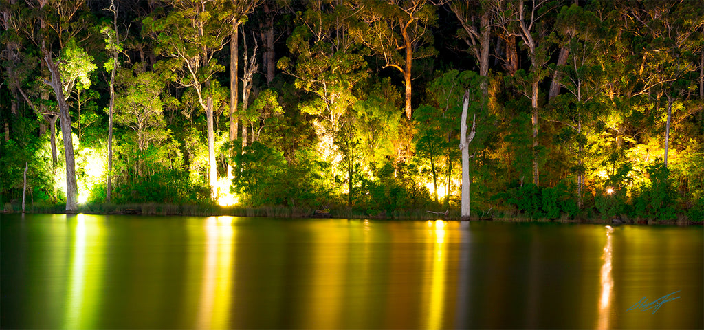 Night Reflections Karri Valley Acrylic Block