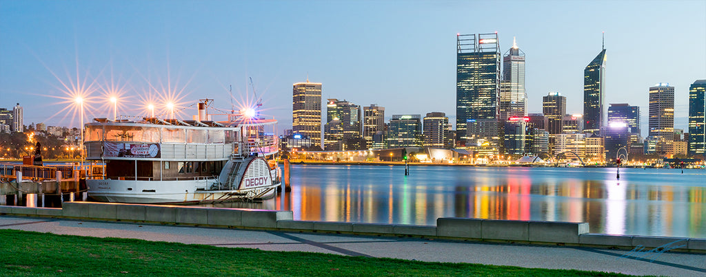 South Perth Western Australia Acrylic Block