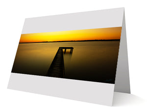 The Glow At The End Of The Jetty Greeting Cards 10 Pack