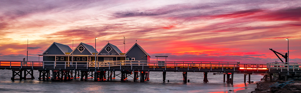 Firey Sunrise Busselton Jetty