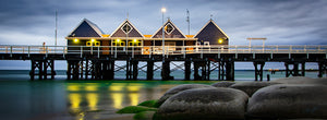 Stormy Winter Busselton Jetty Acrylic Block