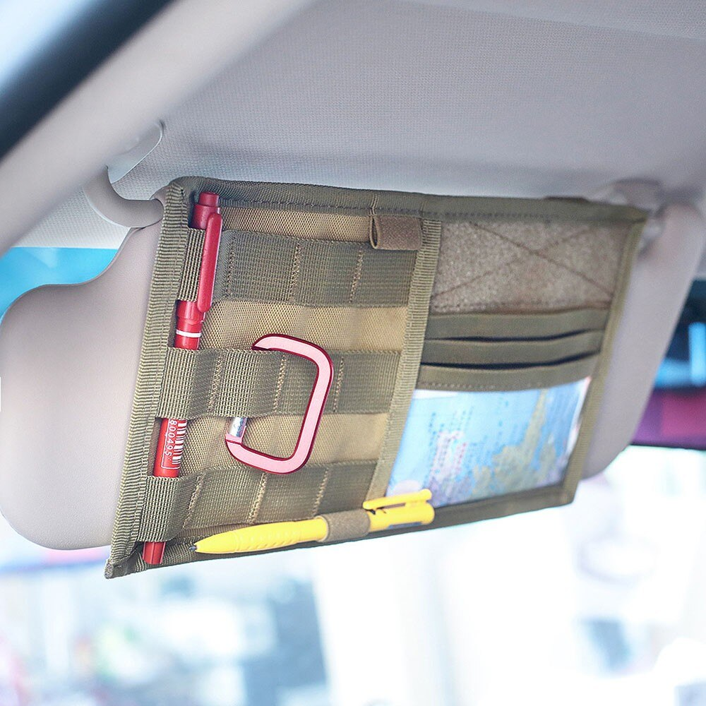 Tactical MOLLE Vehicle Visor Panel Truck Car Sun