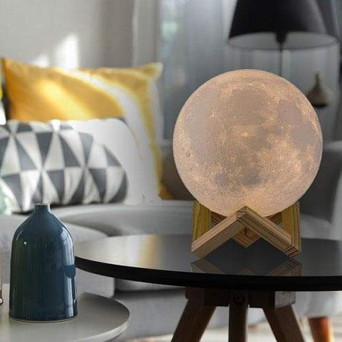 Color Changing Galaxy Moon Lamp