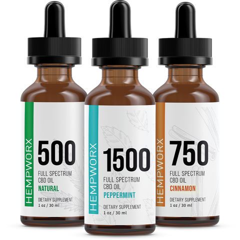 CBD Oils 500mg Bottle