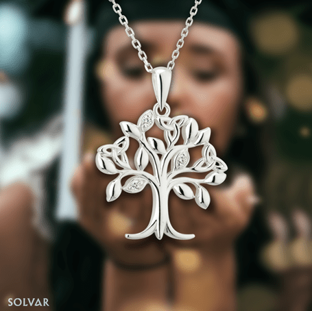 tree of life pendant with CZ