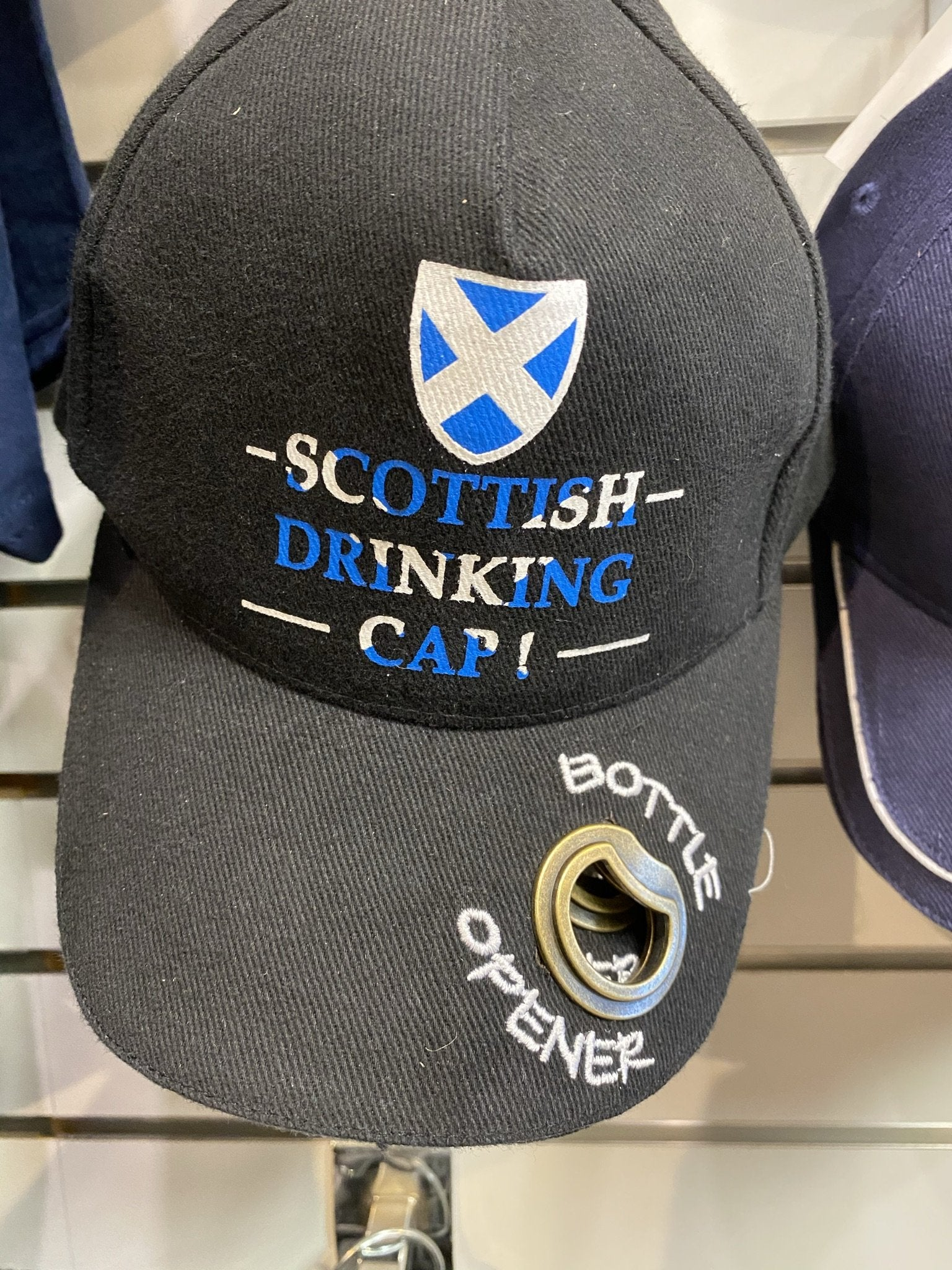 Scotland baseball cap with bottle opener