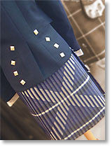 Saltire 5 yard casual kilt made in Scotland.  Scottish Treasures Celtic Corner