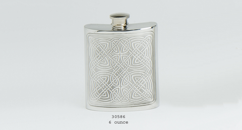 Celtic Panel Flask (6 oz)