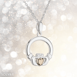 Claddagh Silver and 10K Gold Pendant - Celtic Corner / Scottish Treasures