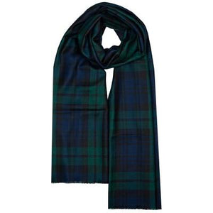 Black Watch extra fine merino wool scarf/stole